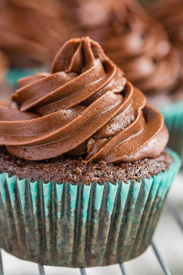 Chocolate Zucchini Cupcakes with Chocolate Frosting