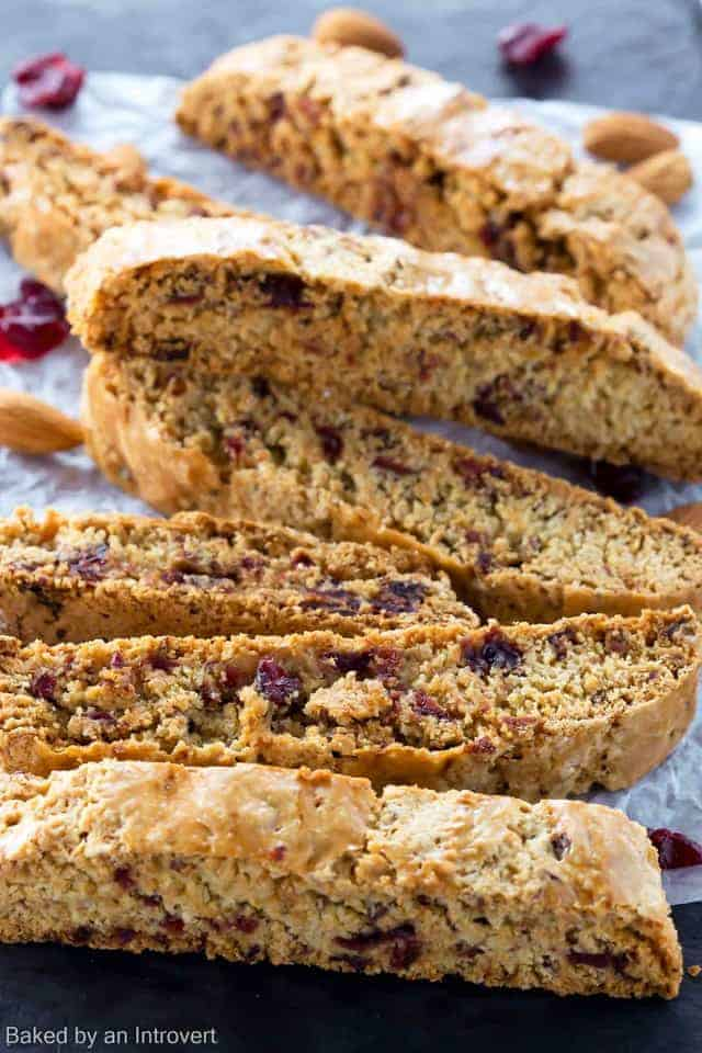 This simple recipe for homemade Cherry Almond Biscotti is like a ...