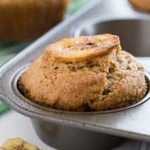 These Whole Wheat Banana Muffins are a quick make-ahead breakfast that will fill you up and hold you over until lunch time.