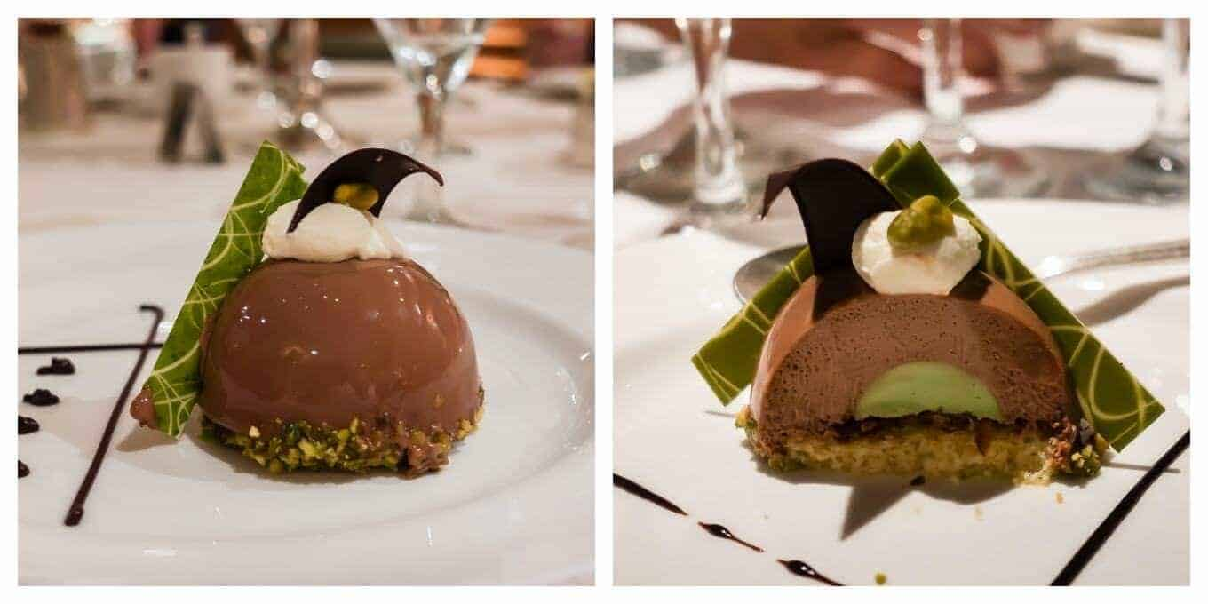 Chocolate Pistachio Dome from Princess Cruises
