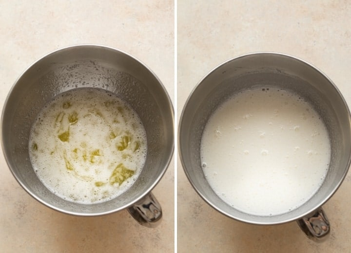 process shots for whipping egg whites