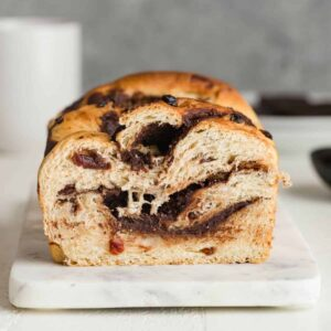 Chocolate Swirl Bread with Cherries Recipe Image