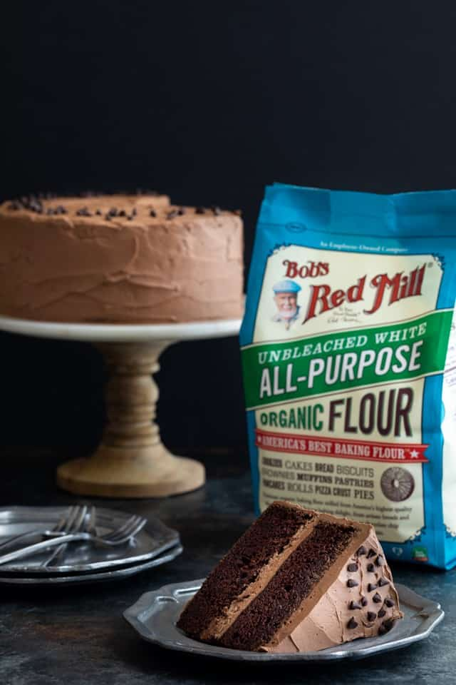 Chocolate cake with Bob's Red Mill Flour