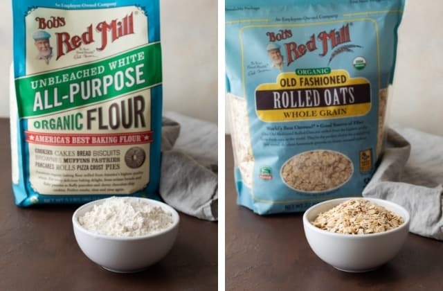 Bobs Red Mill All-Purpose Flour and Organic Regular Rolled Oats