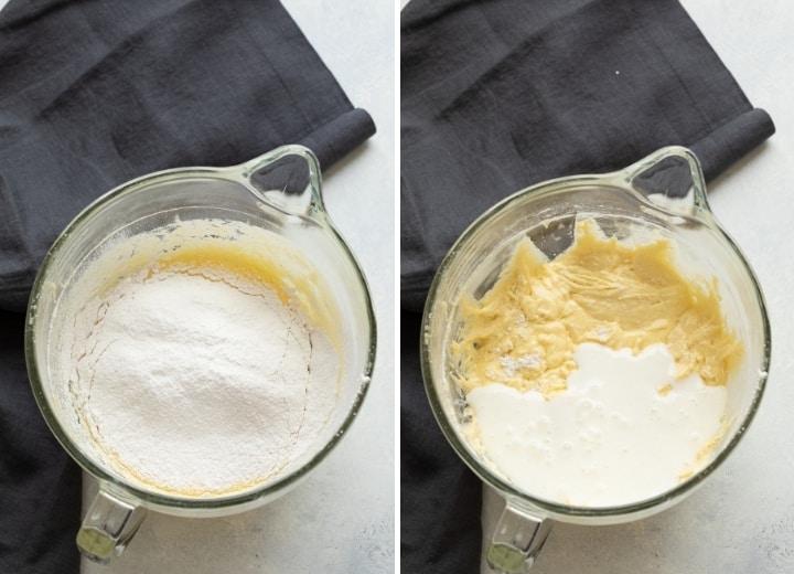 process shots for making vanilla cupcakes