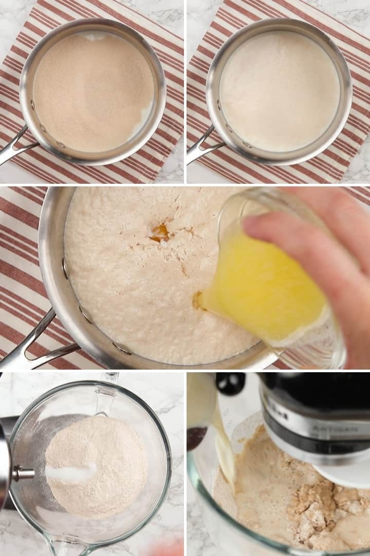 process for making whole wheat English muffin dough